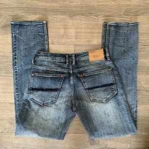 Men's buffalo blue jeans 30x32 slim straight